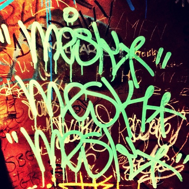 Can't take this guy anywhere #graffiti #tags #handstyle #drip #krink #jerseycity #meskoner #mesk  (Taken with Instagram)