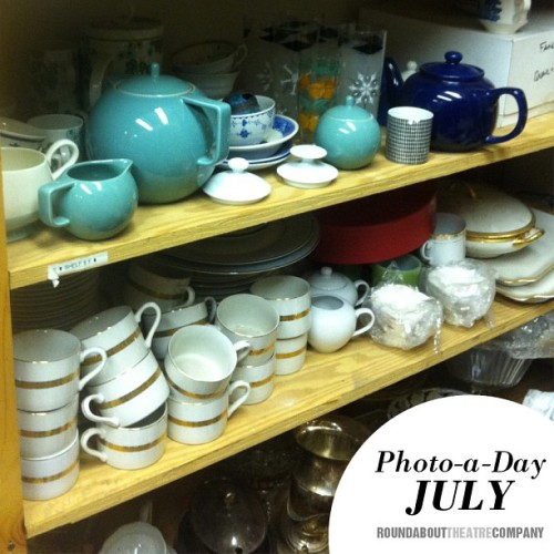 #photoadayjuly Plates: Plates n' things! Check out our prop closet! (Taken with Instagram)