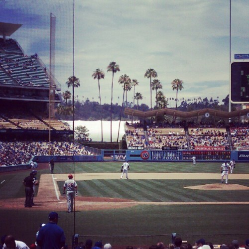 Took a day off to watch the Dodgers. @jpreijers @bnshm  (Taken with Instagram)