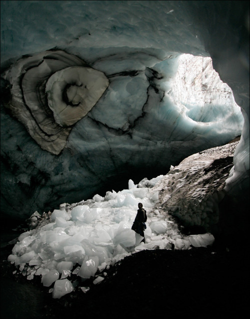 spaceswithwords:  An ice cave in Iceland, Maxim Popov.