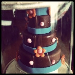 #mini #chocolate #wedding #cake.  (Taken with Instagram)