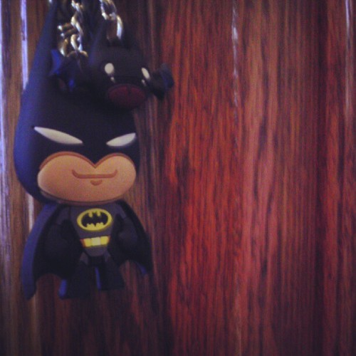 My Batman key-chain I got from Six Flags this year on choir tour. Who's ready for Dark Knight Rises this Friday? This guy is. :) #Batman #DarkKnight #DarkKnightRises #SixFlags #Cali #California #KeyChain #DcComics  (Taken with Instagram at Warner Ranch)