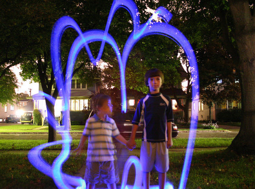 Glow-kids on Flickr.Roughly 5 years ago, some glow stick fun with Zion and Emmett.