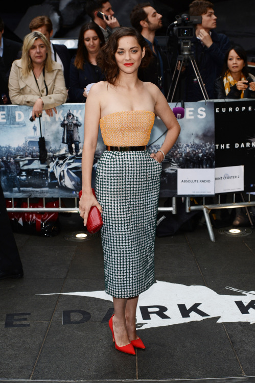 verysherry:  Marion Cotillard | 'The Dark Knight Rises' London premiere at Odeon Leicester Square - July 18, 2012