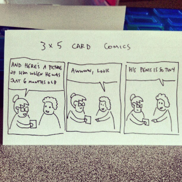 3x5 comics (Taken with Instagram)
