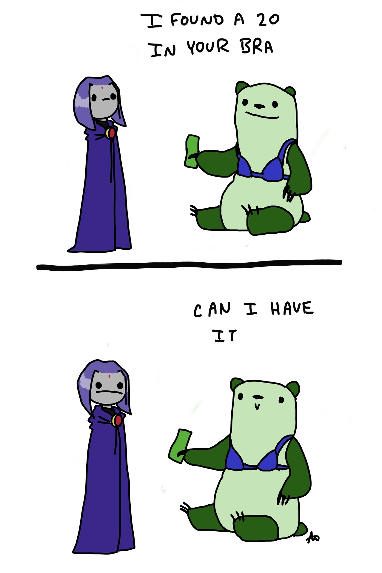 beastboybothersraven:  30 raven has no pockets
