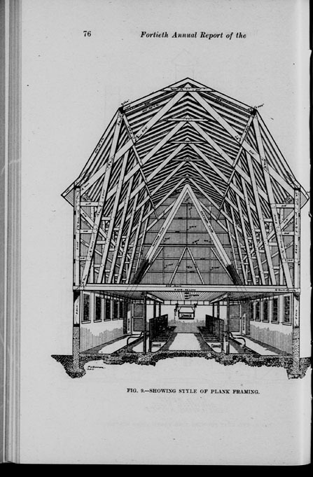 Illustration of plank framing in barn, from the 40th annual report of the Wisconsin Dairymen's Association, 1911. At the 1911 convention of the Wisconsin Dairymen's Association, W. D. James of Fort Atkinson advocated a scientific approach to barn construction, emphasizing the importance of good sanitation and ventilation. The published annual report includes diagrams of model barns with ideal dimensions for doors, windows and stalls.  In planning the dairy barn, the important things to be considered are cleanliness, cow comfort and cow health, and convenience in caring for the cows … the one thing always to be kept in mind is the fact that the barn is a place where human food is manufactured.  via: History of Wisconsin Agriculture and Rural Life by way of University of Wisconsin Digital Collections