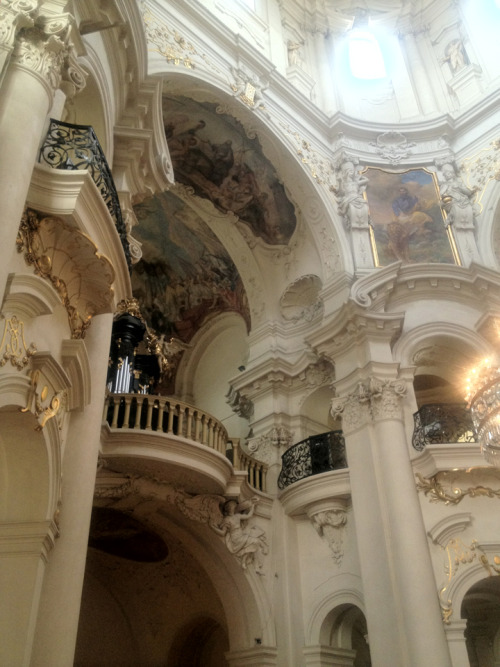 lostsplendor:  Church of St. Nicholas Interior, Left Side. Prague, July 18th 2012.