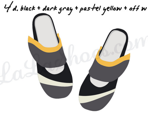 Gea ballet flats in black, gray, yellow & off-white on Flickr. Sketch for new Gea women's ballet flats slippers in linen - a black shoes body with gray, off white and yellow.