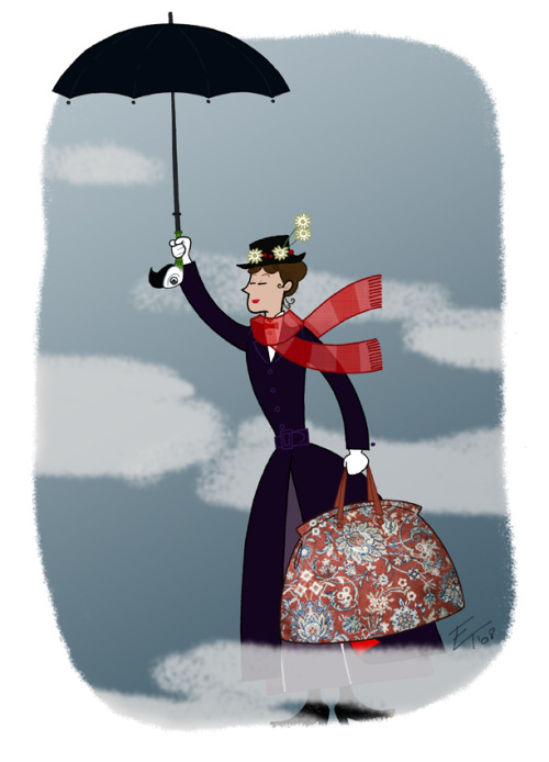 That's a piecrust promise. Easily made, easily broken. Mary Poppins illustrated by Edgar Torné ::via edgar1975.deviantart.com