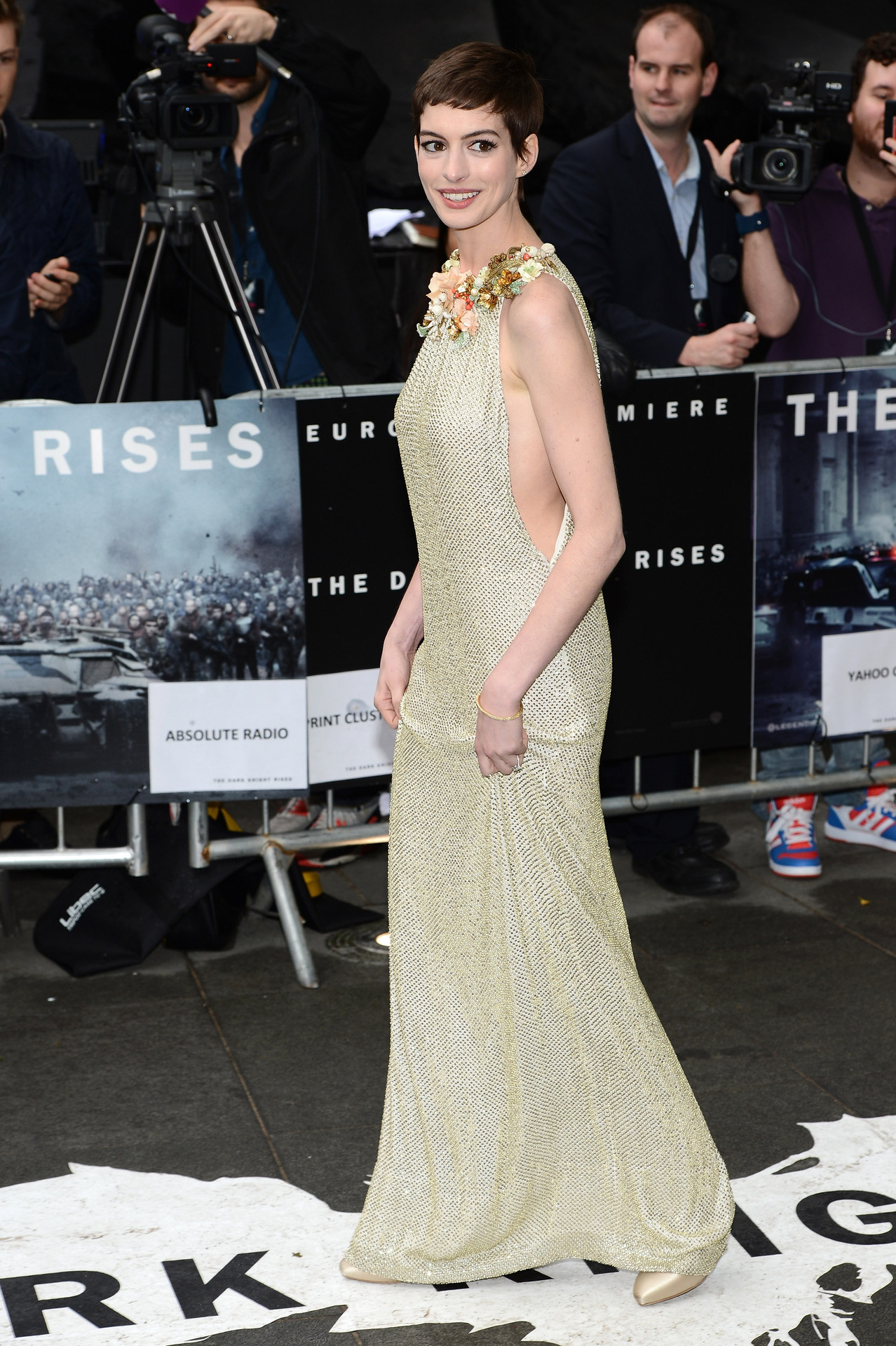 Anne Hathaway (in Gucci) at the London premiere of The Dark Knight Rises, July 18th