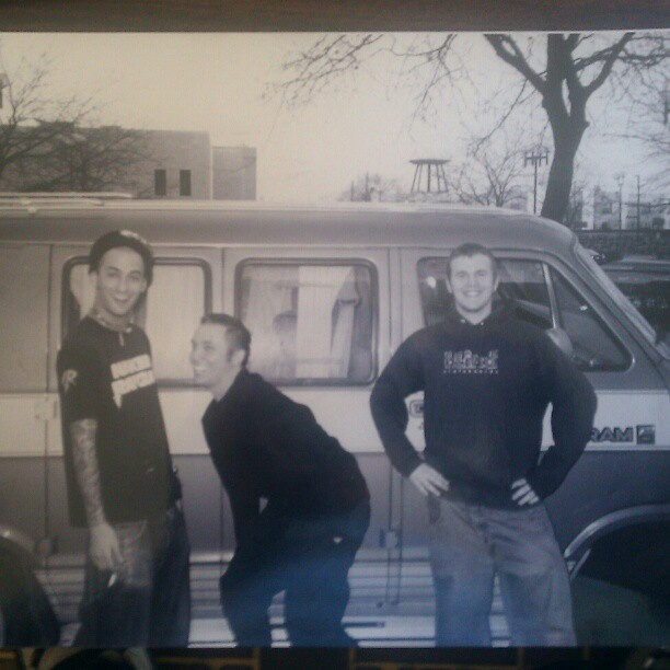 The Lawrence Arms' first-ever promo photo. (via Mike Park's Instagram)