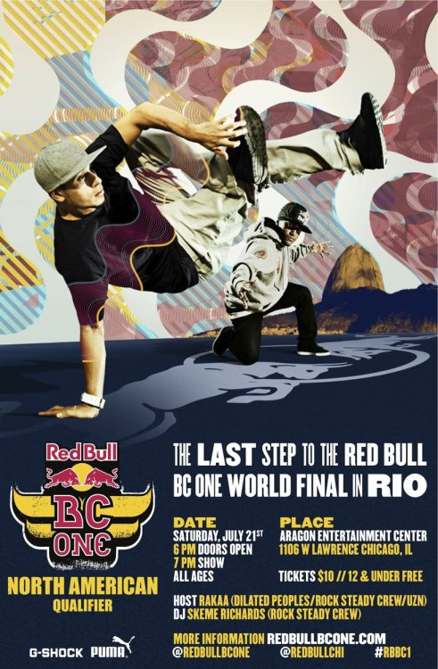 The Red Bull BC One is in Chicago THIS WEEKEND! I won't be performing, battling or anything, in this.. But if your a fan of Hip Hop Culture & B-Boyin like me,  then you need to be here!