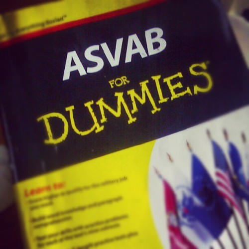 Time to prove I'm not entirely stupid. #Asvab #military #rotc #national #guard #life #newchapter  (Taken with Instagram)