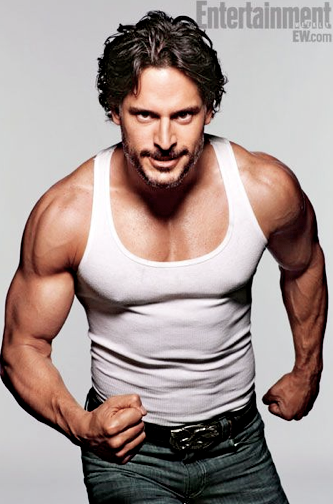 celebnewsny:  ♡Joe Manganiello♡  Follow Me I Will Follow Back  Joe Manganiello, aka Alcide Herveaux the werewolf/manly contractor from True Blood.