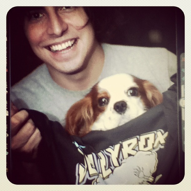 Matt Langston (the Jellyrox) and Ash wearing a JRX tee..
