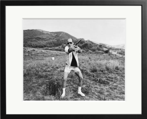 Happy 75th Birthday to the good Doctor: Hunter S. Thompson with a .44 Magnum at his ranch, Aspen, Colorado, 1976.