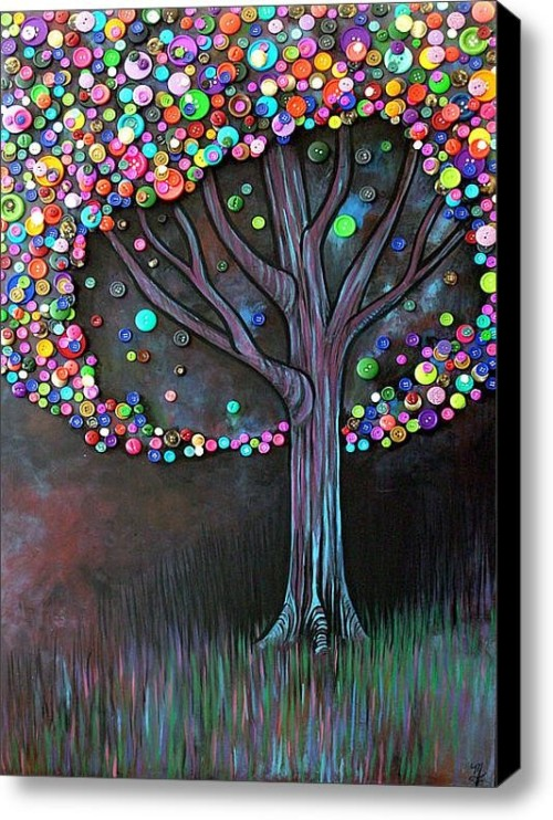 Button Tree. Something I picked up on Pinterest. (My other obsession)