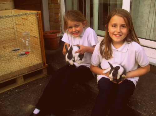 heyguysitsrayray:  my and my sister rocking with the rabbits in '04.  ly prin. r.i.p x  ;3;