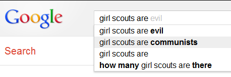 g-antics:  That's an interesting take on Girl Scouts.
