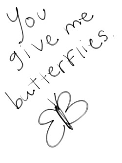 me love couple cute forever you picture sweet in love give handwritten butterflies