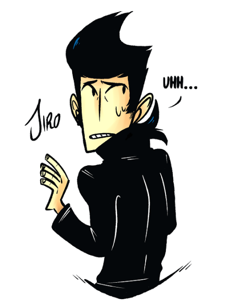 wiishu:  I CAN'T DRAW JIRO BUT I REALLY REALLY WANT TO! ; o;He's such a precious baby<3  Signe I have absolutely no idea what you're talking about because that is the most perfect rendition of his hair I'VE EVER SEEN YOU'VE FINALLY MASTERED THE IMPOSSIBLE SHARK FIN, WELCOME TO MY CLUB