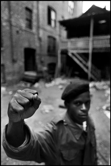 A Black Panther Party member. Chicago, 1969. By Hiroji Kubota