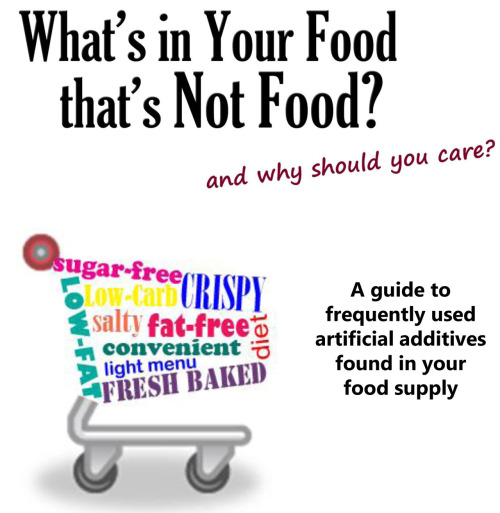 What's in your food that's not food… and why should you care?  Get the scoop on artificial ingredients and food additives that you may want to avoid. Check out our free guide to food additives.