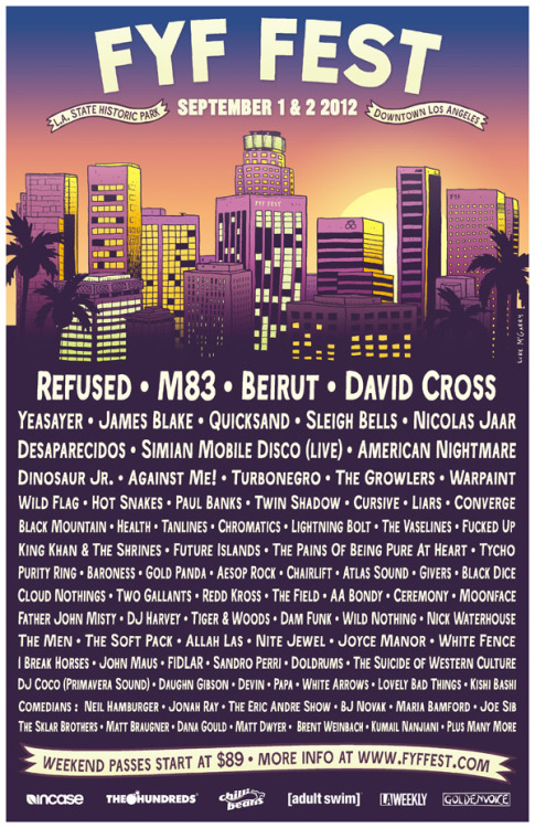 fyffest:  We are very excited to announce Nicolas Jaar, David Cross and the full comedy line up to FYF Fest.  Reblog this image for a chance to win a pair of tickets to the festival. 2 winners will be picked tomorrow at 3:00pm
