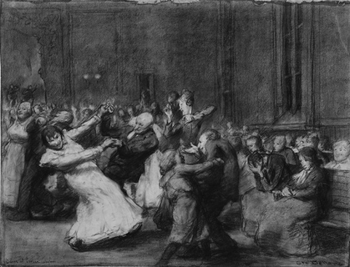 tamburina:  George Wesley Bellows, Dance at Insane Asylum, 1907