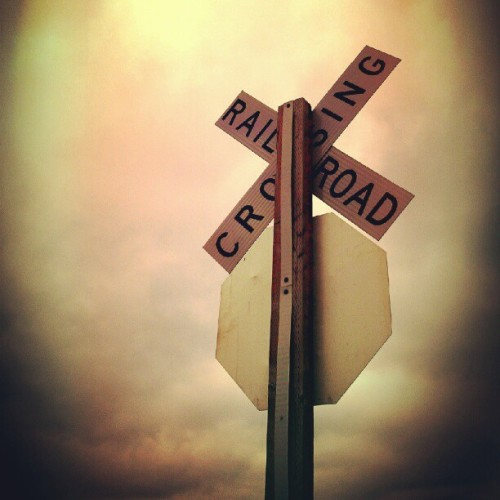 #crossroads #signage #railroad #Americana #zan #abstract #artofzan #alexanderzanamy  #alexanderzanamy #aliveandremaining #aliveandremainingart www.Aliveandremaining.com  (Taken with Instagram)