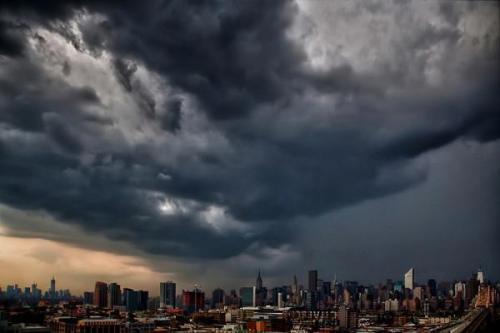 annadevries:  Holy hail, Batman. (New York City, not Gotham) Courtesy of The Weather Channel