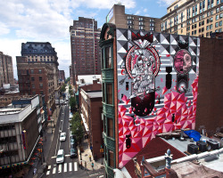 vandalog:  How and Nosm in Philadelphia thanks to the Mural Arts Program. Photo by Steve Weinik.