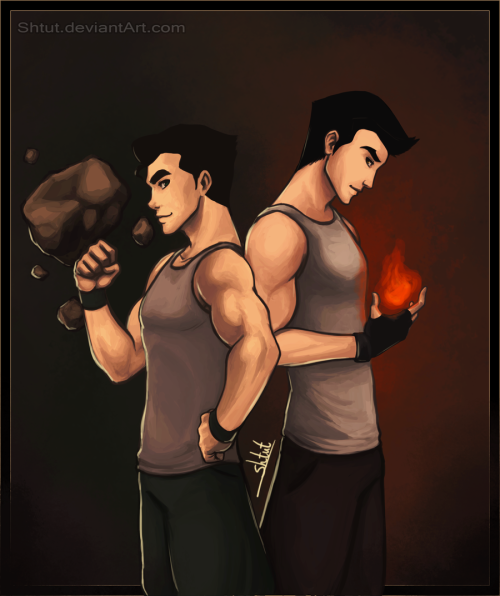 korralations:  tiptoppaw:  Brothers by ~Shtut  Mm, I can't with the both of them.