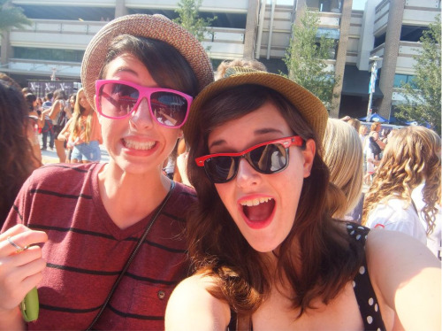 pictured: two vaguely hipster cuties in line at a One Direction concert see also: the happiest you'll ever see me and Christine tbh