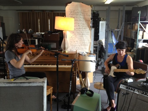 Little Ruby Fray practice session in the studio today. Giselle and Emily are really something special.