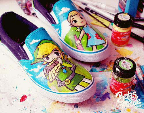 Custom Windwaker Slip-ons Created by Bobsmade Via: it8bit