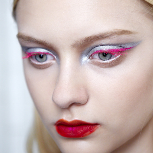 Backstage at Christian Dior Fall 2012 Haute Couture, makeup by Pat McGrath