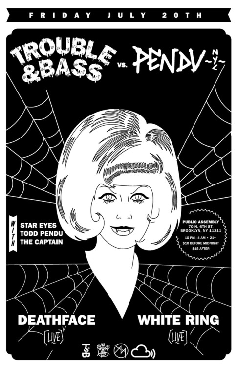 thecaptain666:  Trouble & Bass vs. Pendu NYC Friday night in Brooklyn