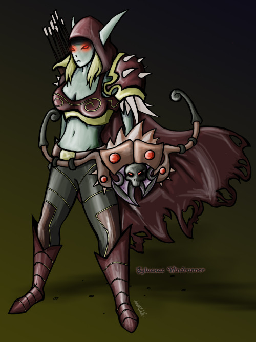 """Sylvanas Windrunner"" World of Warcraft fan art by: Anthony Woodruff (AntW00dArts)"