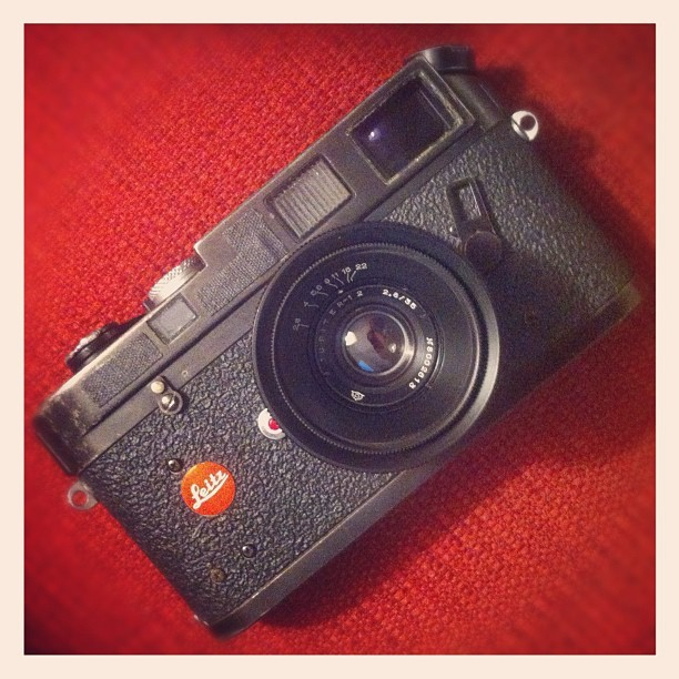 My Leica is finally back from repair…5 months later! So happy to have her back.  (Taken with Instagram)