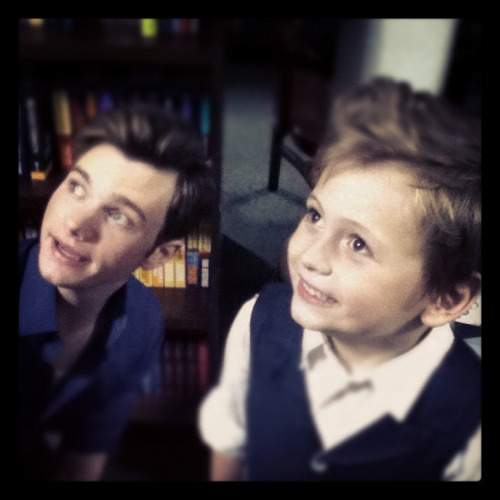 chriscolfernews:  dontturnitoff:  No. Big. Deal.  Chris and Spence, the 6 year-old autistic boy mentioned in the Village Voice Glee Live review (and follow-up pieces), and during Chris' recent NPR interview. So glad these two are meeting face-to-face at the signing tonight!!!! What an awesome pair! THANK YOU SO MUCH FOR SHARING THIS PHOTO!!!!