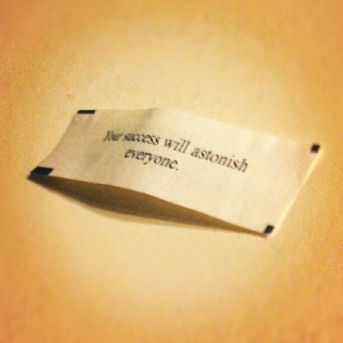 After a day like today, I can use some good fortune. (Taken with Instagram)