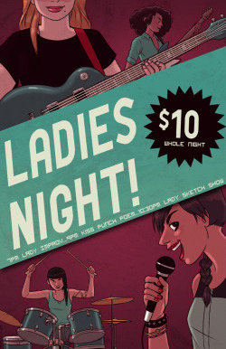 Finished poster! Magnet Theater is having a Ladies Night on July 28th! So many talented ladies on one stage…can you stand it? Check it out if you're around!