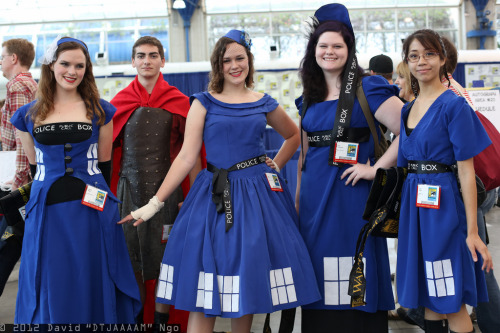 TARDIS (and Rory!) cosplayers from SDCC 2012