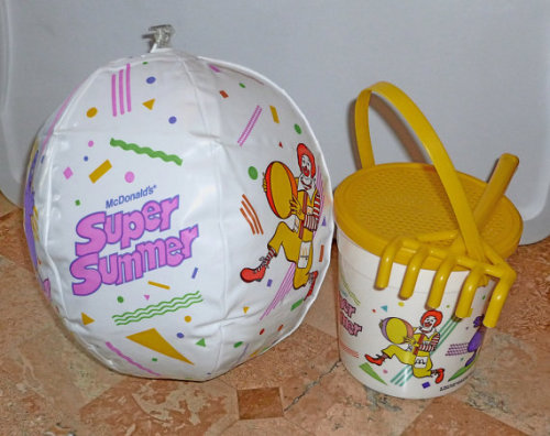 McDonalds Super Summer Happy Meal Toys via toysofthe80s