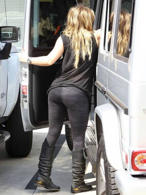 Hilary Duff her great ass tight pants leaving Pilates class Los Angeles via hotcelebshome.com
