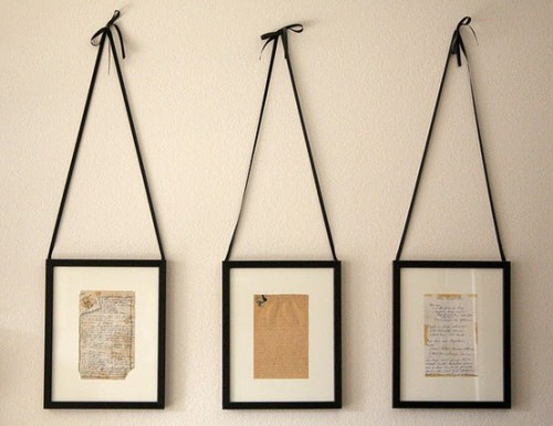 Handwritten recipes framed. This is such a cute gift idea!