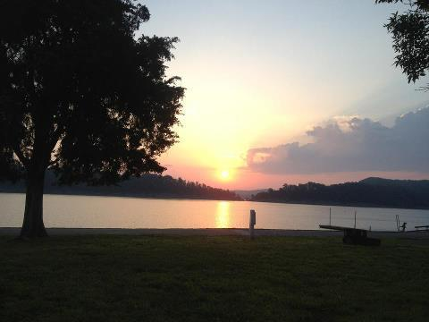 Green River Lake in Taylor County, Kentucky.