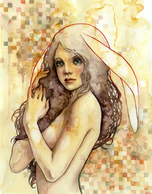 "kellymckernan:  Wile / 9"" x 12"" / Watercolor / Kelly McKernan"